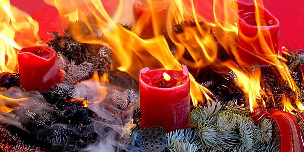 Adventskranz Brennt